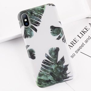 NEW iPhone X/XS/7/8/6+/6 Palm Leaves Case
